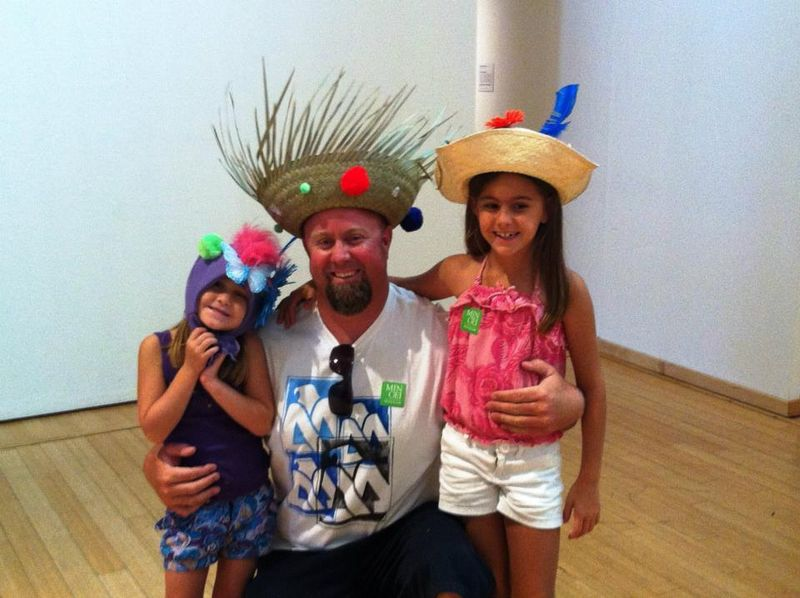 2 little girls and dad