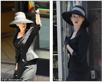 Catwoman Anne Hathaway goes from leather to ladylike on the set of The Dark Knight Rises  2.5