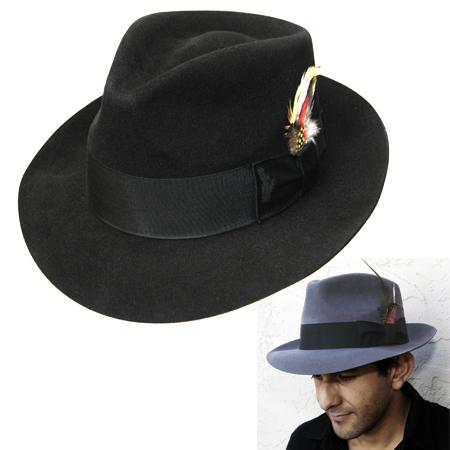 Jaxon Hats  Jaxon Fur Felt C-crown Fedora 7f2da62dc04
