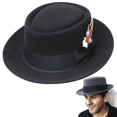 Jaxon Hats  Jaxon Fur Felt Pork Pie 38c9c698311